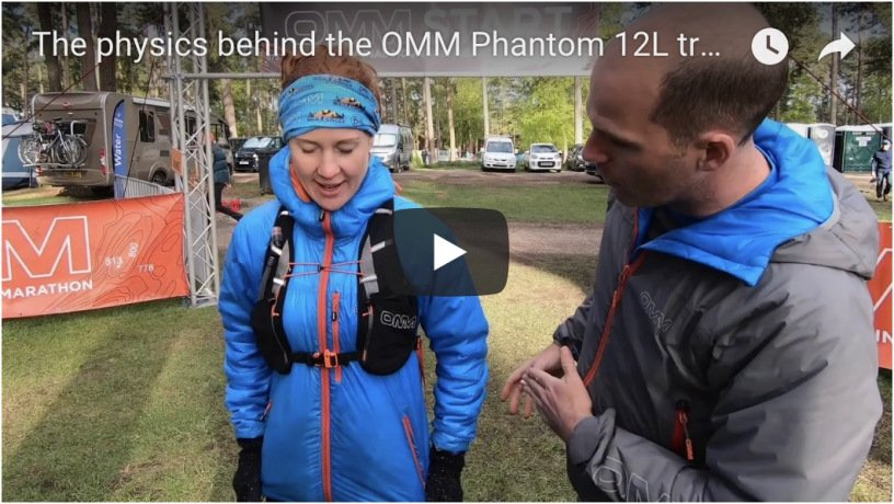 The physics behind the OMM Phantom 12L trail running pack