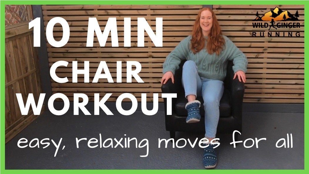 10 min CHAIR WORKOUT – stay happier & healthier at home (& easy relaxation at your desk!)