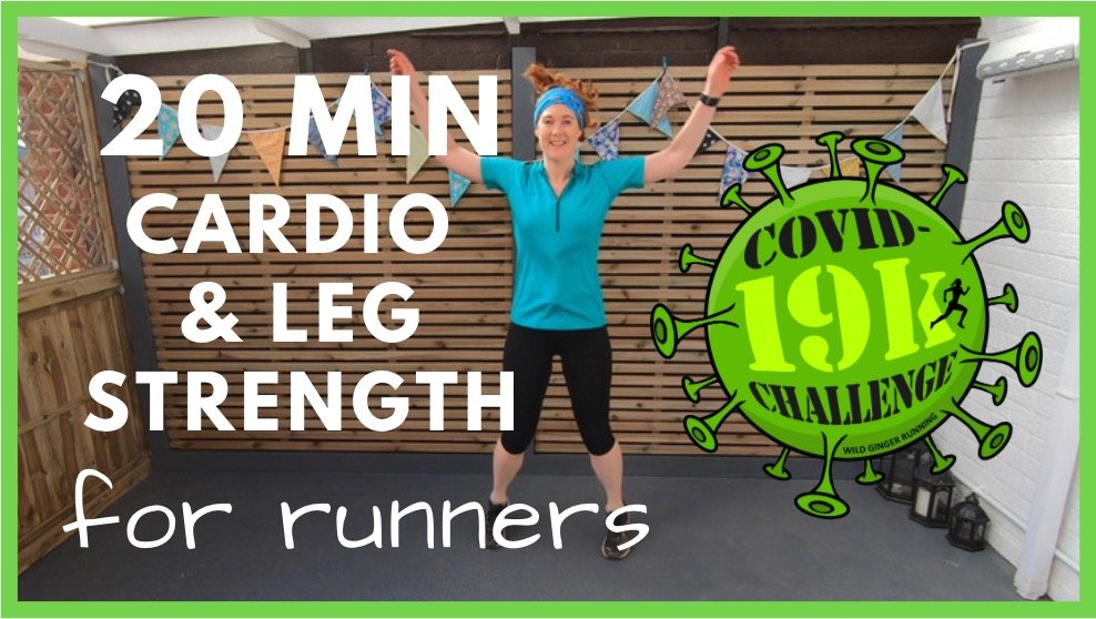 Home workout – 20 min leg strength & cardio for trail & ultra runners (works for walkers too!)