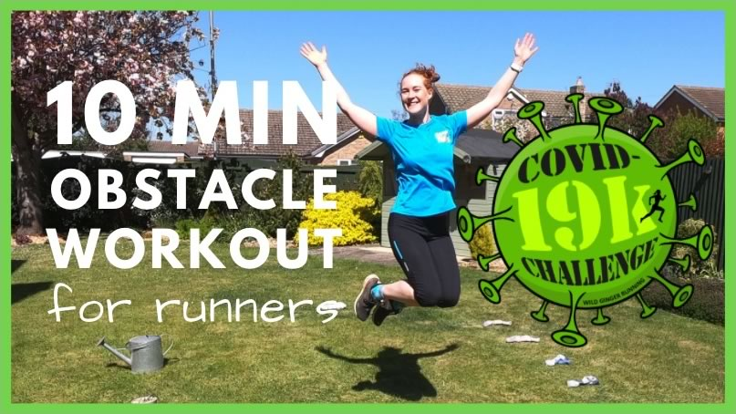 10 min OBSTACLE garden workout for runners (balance, co-ordination, ankle strength & cardio)