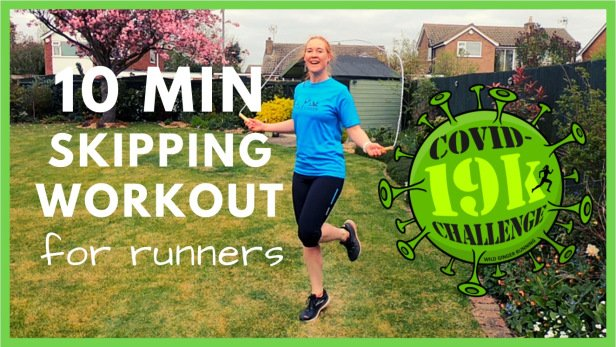 10 min skipping home workout for runners – fantastic cardio & foot strength (Covid-19 lockdown)