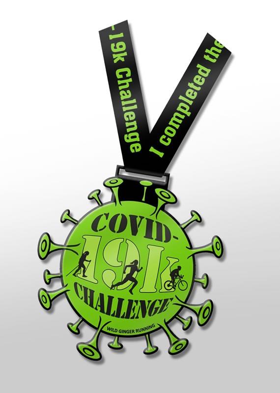 Metal Covid-19k Challenge medal