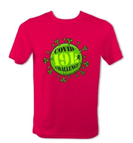 Covid-19k Challenge T-Shirt - Mens (Hot Pink)