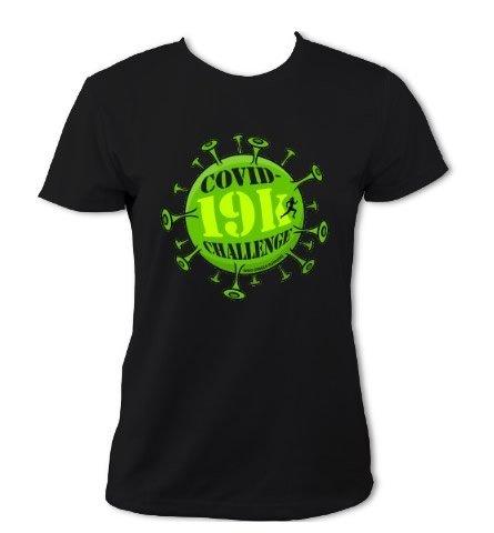 Covid-19k Challenge T-Shirt - Womens (Black)