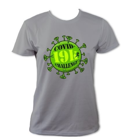 Covid-19k Challenge T-Shirt - Womens (Heather Grey)