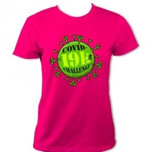 Covid-19k Challenge T-Shirt - Womens (Hot Pink)