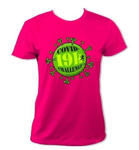 Covid-19k Challenge T-Shirt - Womens (Hot Pink)