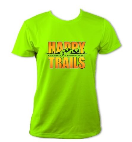 Women's Happy Trails T-Shirt (Electric Green)