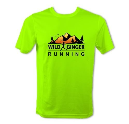 Wild Ginger Running T-Shirt – Men's (Electric Green)