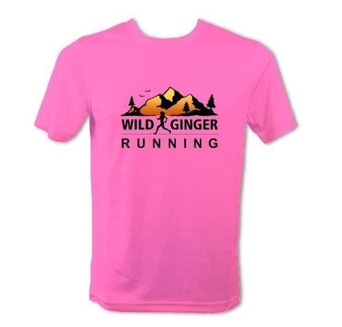 Wild Ginger Running T-Shirt – Men's (Electric Pink)