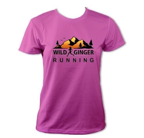 Wild Ginger Running T-Shirt – Women's (Electric Pink)