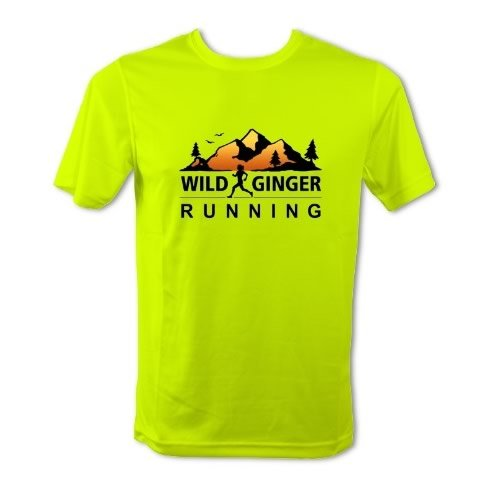 Wild Ginger Running T-Shirt – Men's (Electric Yellow)