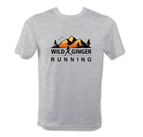Wild Ginger Running T-Shirt – Men's (Heather Grey)