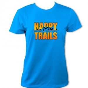 Women's Happy Trails T-Shirt (Sapphire Blue)