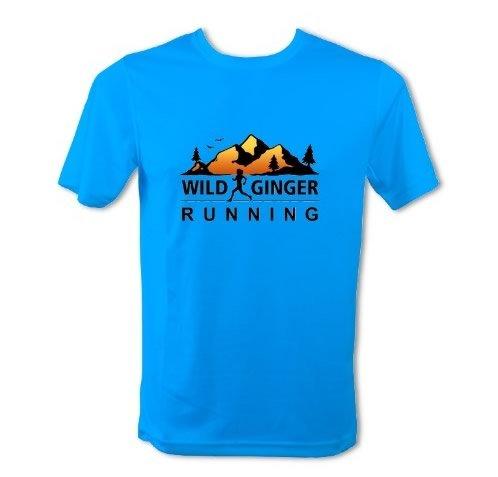Wild Ginger Running T-Shirt – Men's (Sapphire Blue)