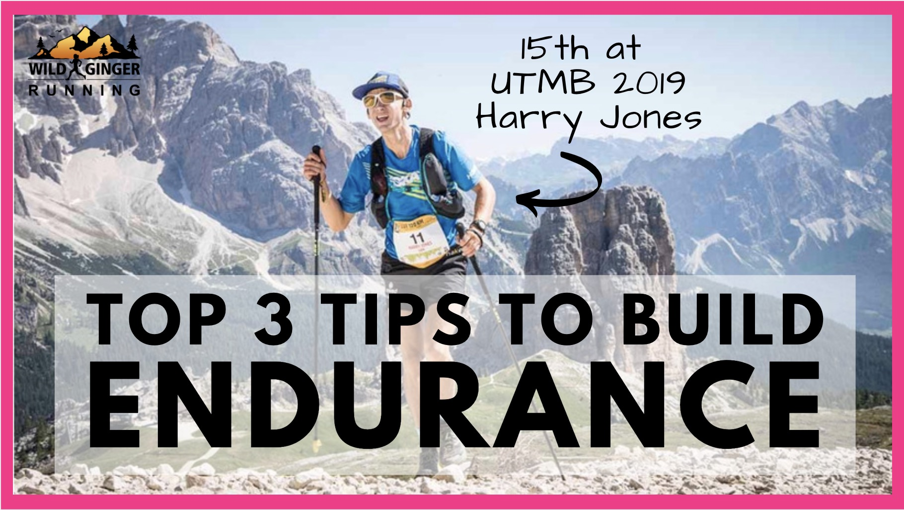 Top 3 tips for endurance from Harry Runs after his 15th place at UTMB 2019 (3rd Brit!)