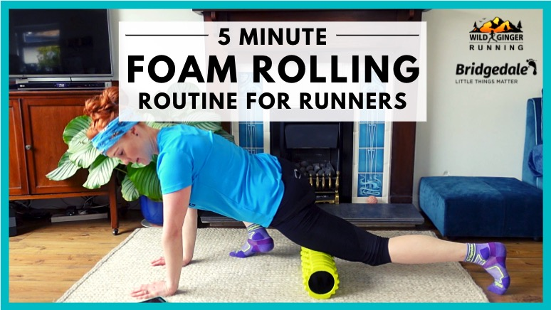 Best 5 minute FOAM ROLLING recovery routine for trail & ultra runners (do it while watching TV!)